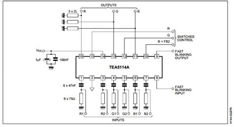 what is single integrated circuit details of tea5114a single integrated circuit integrated circuit chip rgb switching circuit