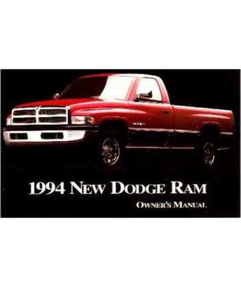 car owners manuals free downloads 1994 dodge ram van b150 electronic valve timing 1994 dodge ram truck owners manual