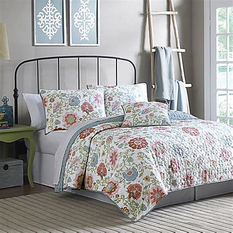 mary jane bedding mary jane s home garden jacobean quilt bed bath beyond