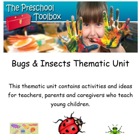 kindergarten themes thematic units insects and ladybugs theme for preschool the preschool