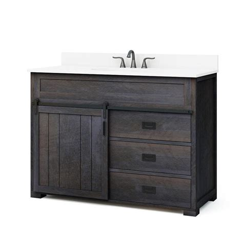 Shop Style Selections Morriston Distressed Java Undermount Style Bathroom Vanity