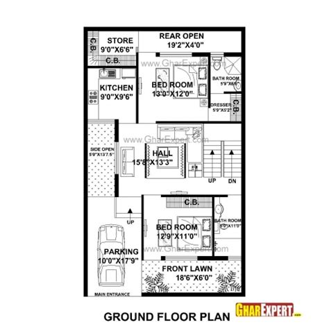 50 square yard home design awesome house plans for plot size 50 square yards popular