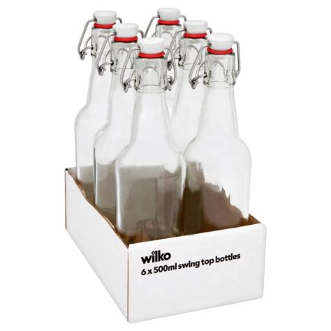 Wilko Swing Top Bottles 500ml Tray Of 6 At Wilko Com