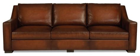Whiskey Leather Sofa tritone whiskey leather sofa traditional sofas by silver coast company