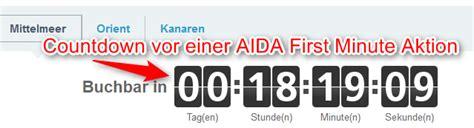 Wie Hoch Ist Die Aida by Just Aida Minute Alle Infos Zur Aida Aktion