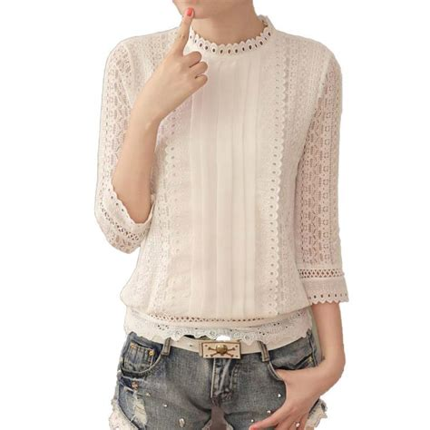 9 Beautiful Blouses For by 2017 New Graceful Lace Blouse Transparent