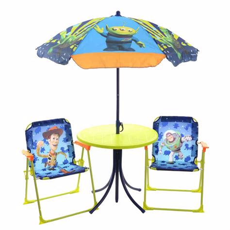 Toddler Patio Chair Story 4 Garden Patio Furniture Set Table Parasol Folding Chairs Ebay