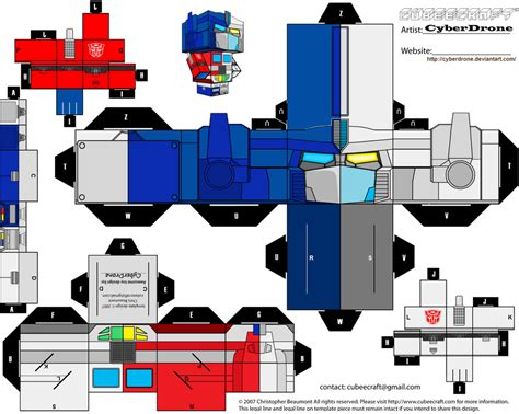 How To Make Optimus Prime Out Of Paper - cubee optimus magnus by cyberdrone on deviantart