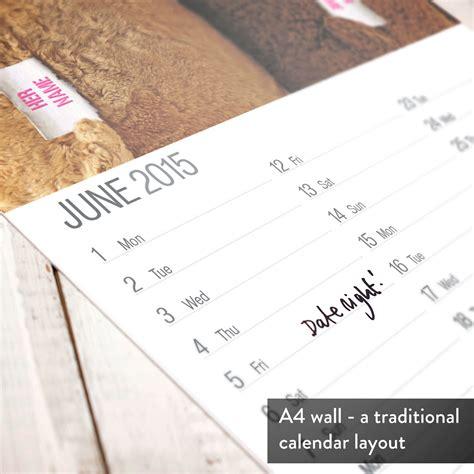 Calendar Personalised Personalised Hers And Hers Calendar Gettingpersonal Co Uk