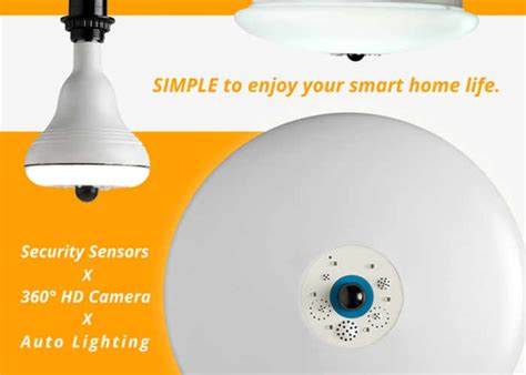 home security system integrated in smart bulbs geeky gadgets