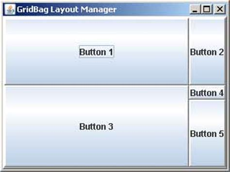table layout manager java cs 221