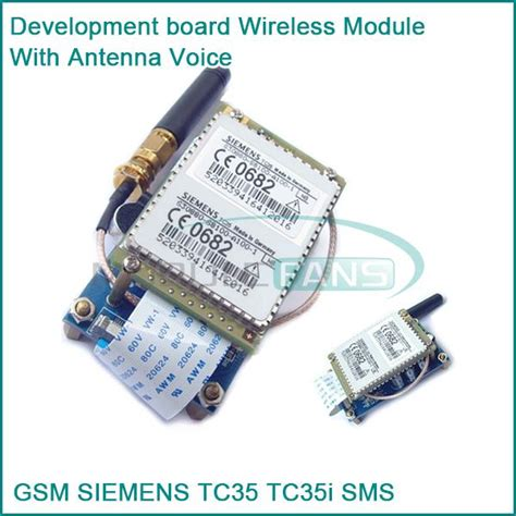 Bor Wireless gsm tc35 tc35i sms development board wireless module with antenna voice in integrated circuits