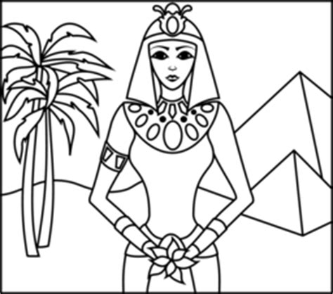 egyptian princess coloring page cleopatra egyptian princess coloring coloring pages