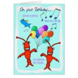 cajun crawfish happy birthday greeting card