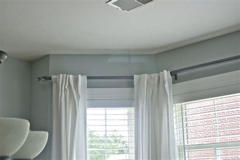 curtain rods for large windows large window curtain rods home sweet home