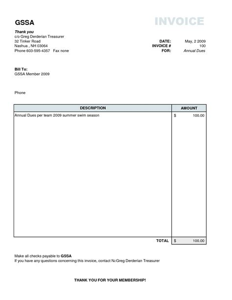Plain Invoice Template Basic Invoice Template Excel Basic Simple Invoice Template Microsoft Word Simple Invoice Template