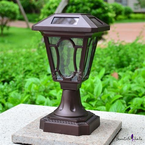Small Solar Powered Lights 10 Inches High Aluminum Alloy Small Decorative Solar