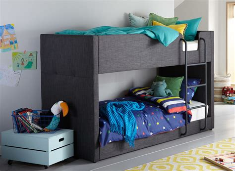 Grey Bunk Beds Willow Grey Fabric Bunk Bed Dreams