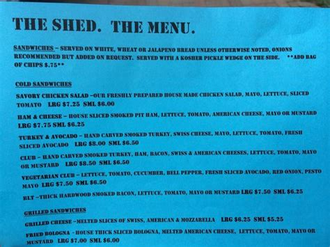 Shed Menu menu picture of the shed weatherford tripadvisor