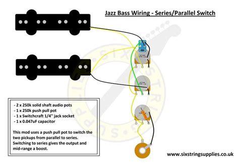 jazz bass wiring diagram  series parallel switch push