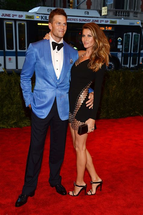 Tom Brady Gisele Bundchen In by Carpet Fashion At The Met Chaos To Couture