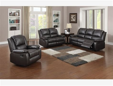 brown leather reclining sofa loveseat recliner tuft