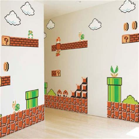 mario bros stickers wall mario wall stickers looking for some cool mario decorations