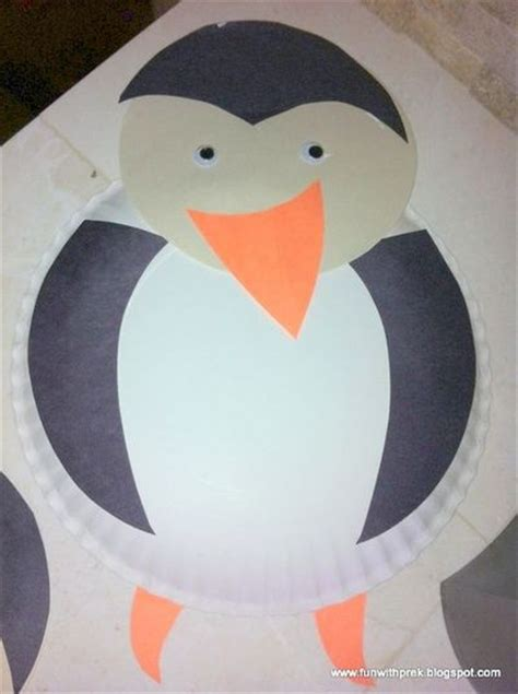 Penguin Paper Plate Craft - preschool penguin crafts template