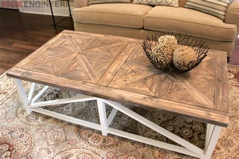 Rh Coffee Table by Diy Parquet X Brace Coffee Table Free Plans Rh Inspired