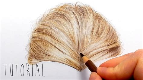 colored pencil hair tutorial how to draw realistic hair with colored