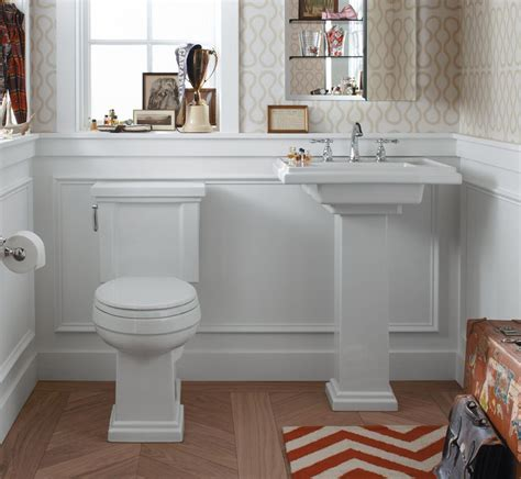 Buying A Kitchen Faucet by Traditional Powder Room With Wainscoting By Valerie