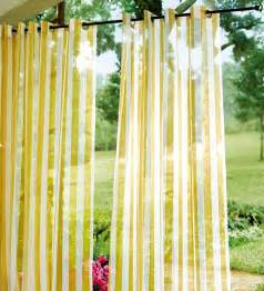 Outdoor Patio Curtains by Sale Uv Resistant 84 Quot L Outdoor Sheer Grommet Drape