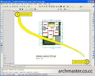 tutorial ngeprint autocad mycastro cara print gambar kerja di autocad