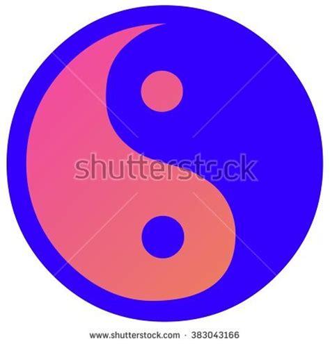 yin yang colors jing jang sign vector illustration stock vector 118407682