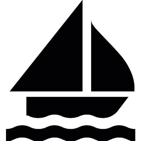 free boat icon sailing boat silhouette free transport icons