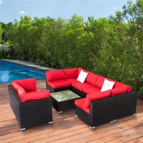 kinbor pcs outdoor patio furniture sectional pe wicker