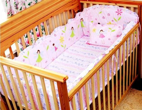 Bedding Set For Baby Cot Promotion 6pcs Baby Bedding Set Baby Cot Beds Set Bumpers Sheet Pillow Cover In Bedding Sets