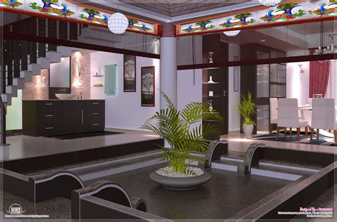 home design interior courtyard interior design ideas home kerala plans