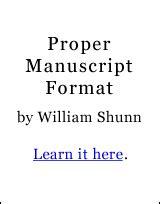 Chapters   Proper Manuscript Format   William Shunn