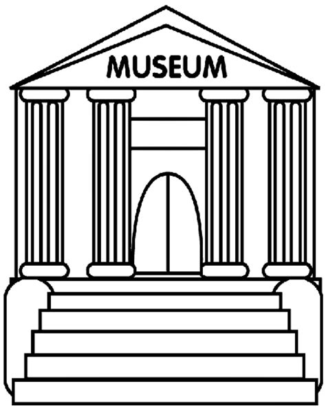 museum coloring page crayola