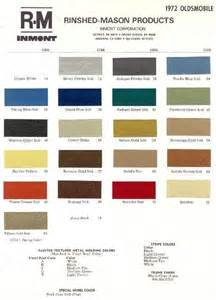 1972 oldsmobile paint color sle chips card colors ebay