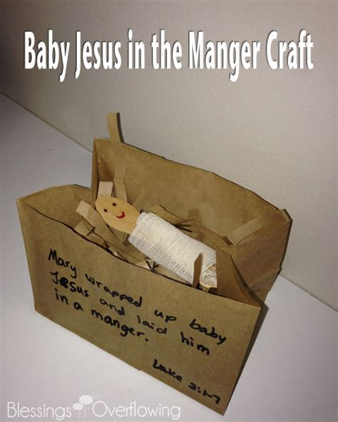 baby jesus craft away in a manger this baby jesus craft is