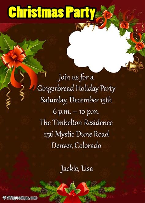 invitation sample for christmas party save invitation letter for