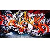 Hot Graffiti Tapet  Fototapet Orange R&246d Gatukonst