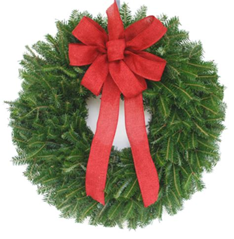 plain fraser fir wreaths decorat