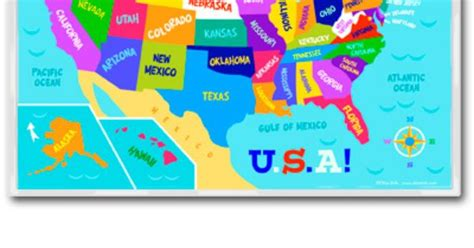 olive kids united states map placemat   great   teach kids  states bodies  water