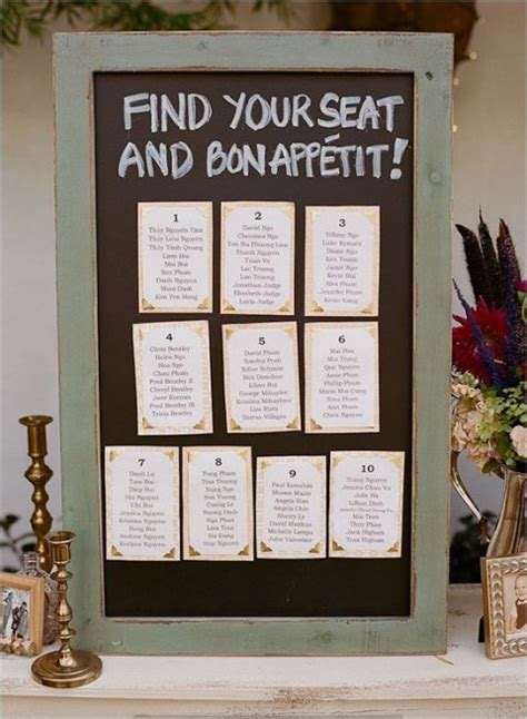 banquet table seating chart ideas 107 original wedding seating chart ideas happywedd