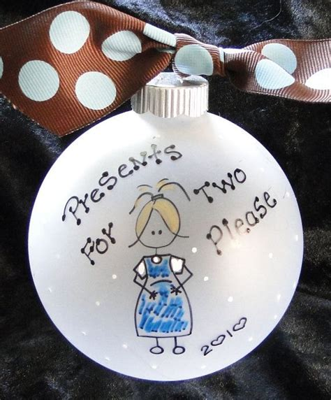 pregnant woman expecting personalized christmas ornament