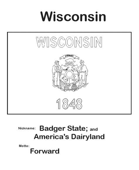 usa printables wisconsin state flag state of wisconsin