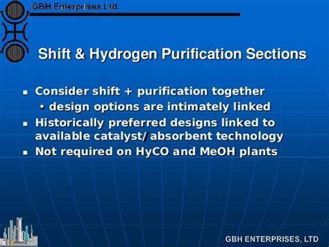 section shift water gas shift hydrogen purification section flowsheet